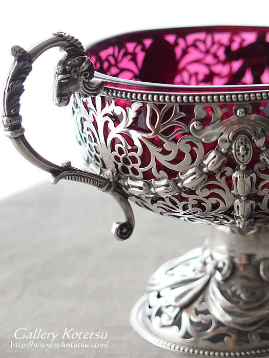 ジョージフォックス antique silver george fox compote