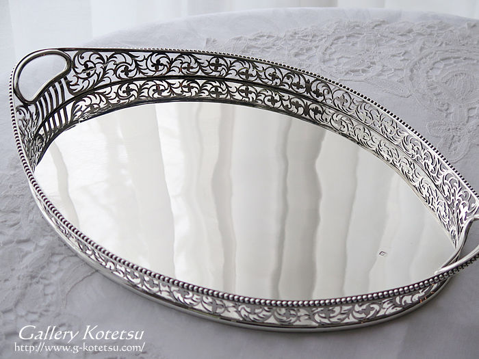 ギャラリートレー antique silver tray