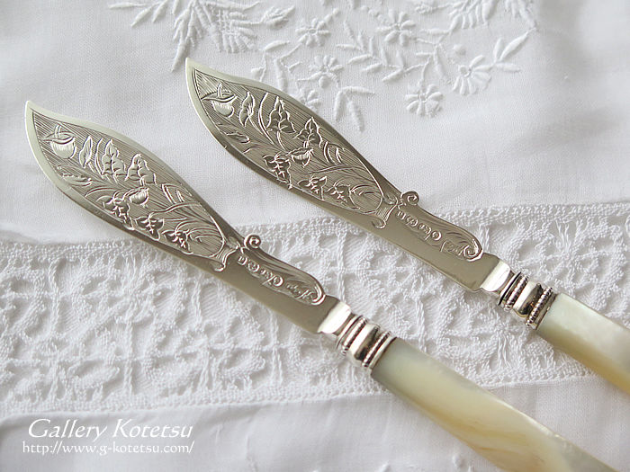 アンティークシルバー antique silver buttrKnife
